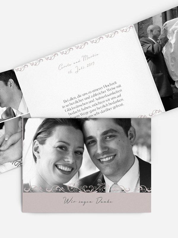 Dankeskarte Hochzeit Klassik
