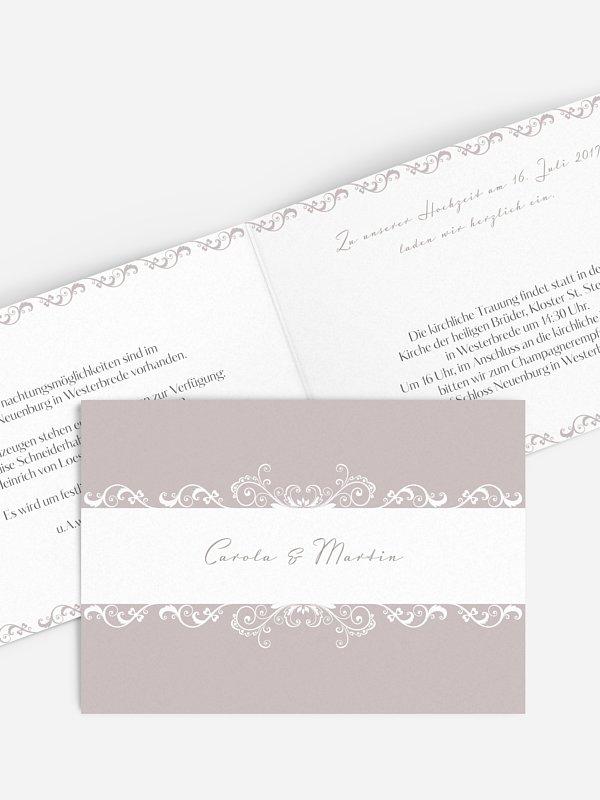 Hochzeitseinladung Klassik