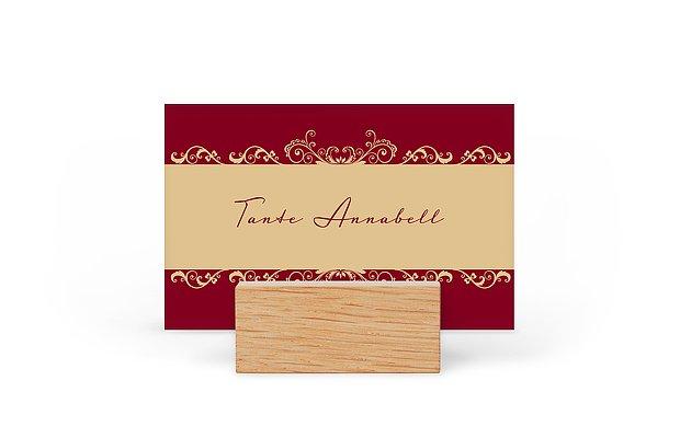 Tischkarte Hochzeit Klassik