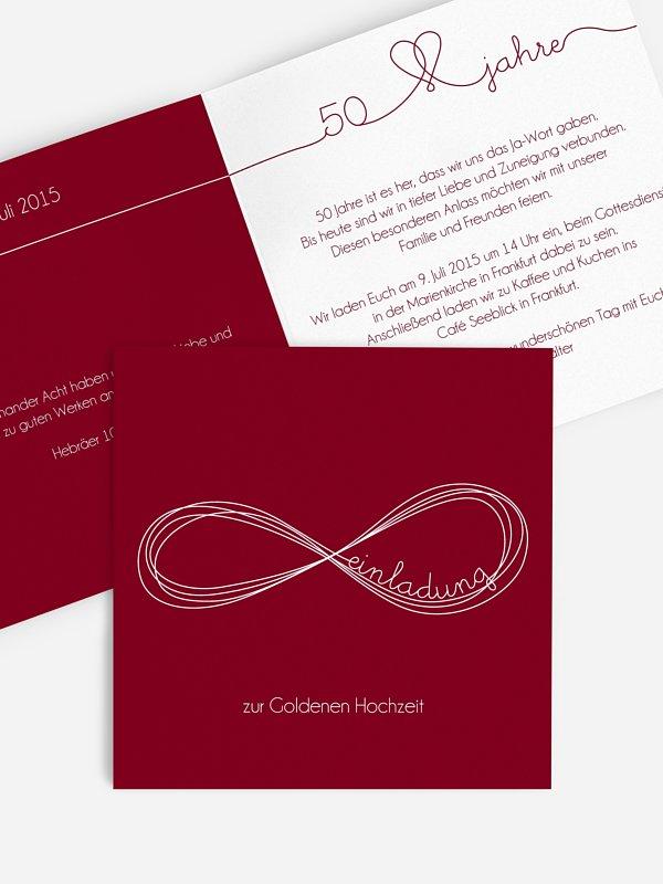Einladung zur Goldenen Hochzeit Unendlich