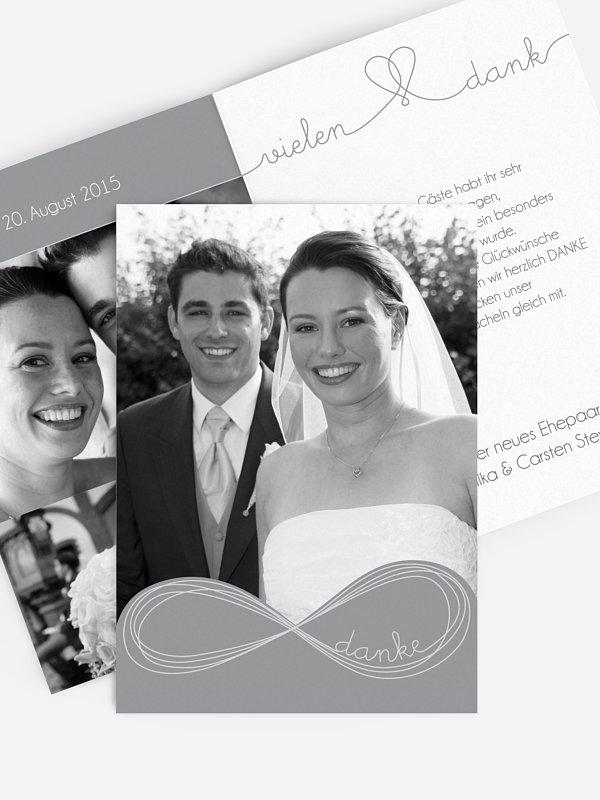 Dankeskarte Hochzeit Unendlich