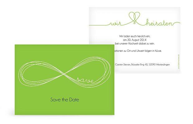"""Save-the-Date Karte """"Unendlich"""""""