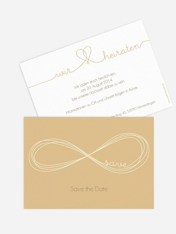 Save-the-Date Karte Unendlich