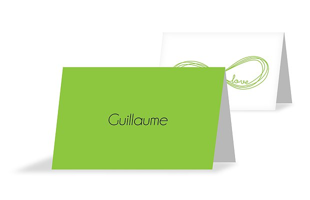 Marque-place mariage Infini