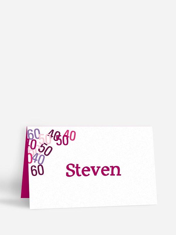 Tischkarte Geburtstag Zahlenspiel