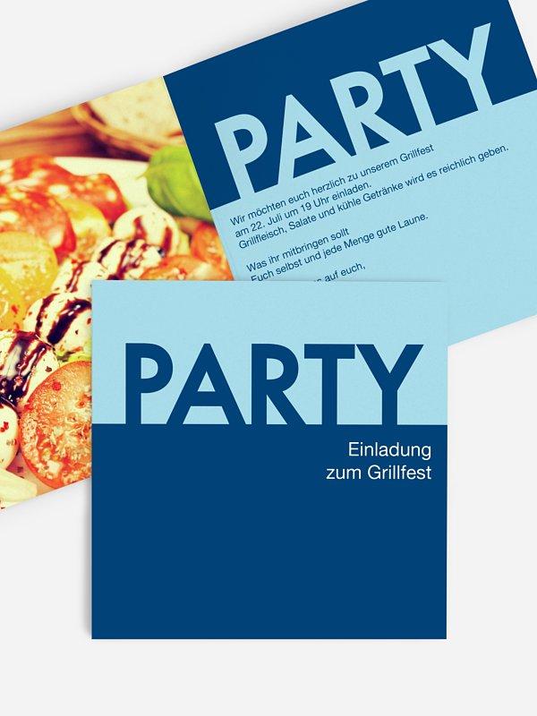 Partyeinladung PopArt