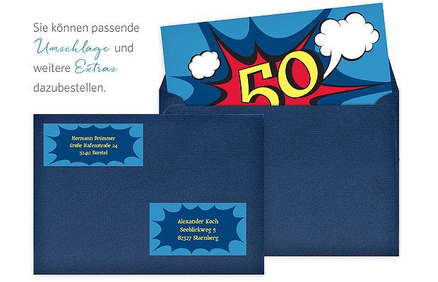 Einladung 50 Geburtstag Comic
