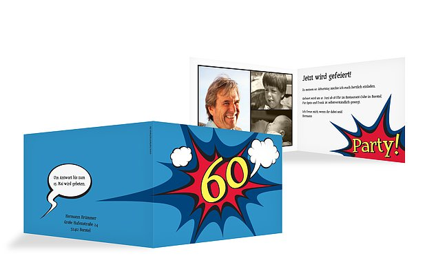 Einladung 60 Geburtstag Comic