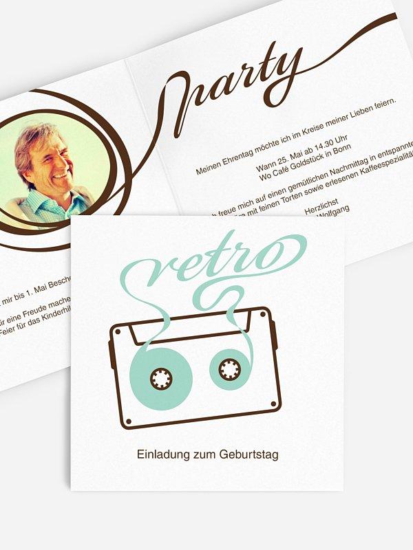 Einladung 40. Geburtstag Mixtape