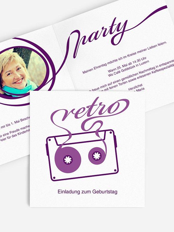 Einladung 50. Geburtstag Mixtape