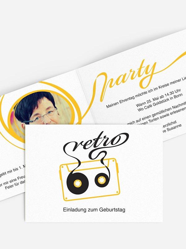 Einladung 60. Geburtstag Mixtape