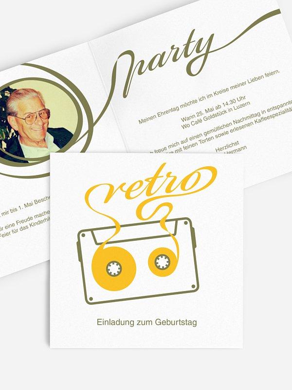 Einladung 70. Geburtstag Mixtape