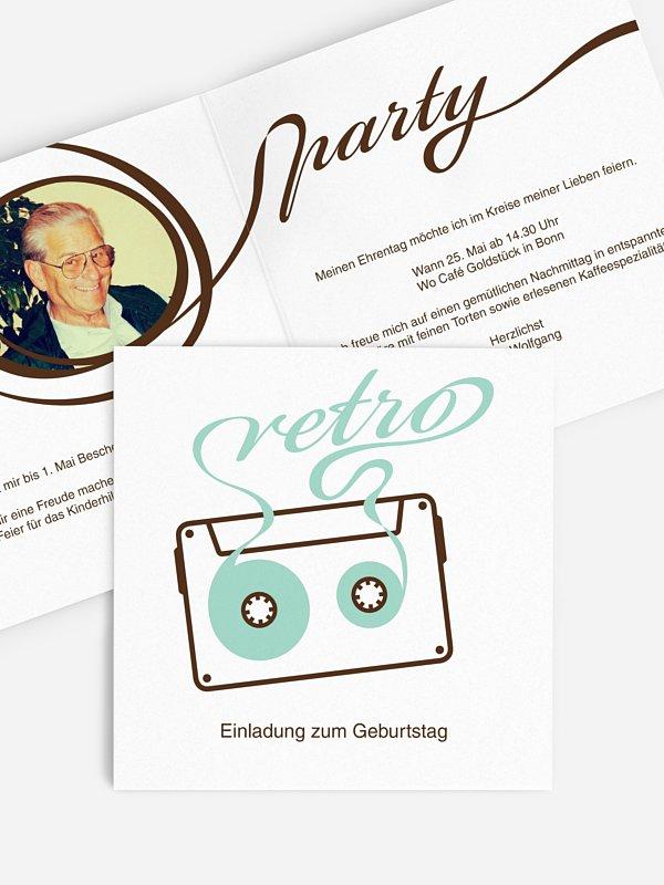 Einladung 80. Geburtstag Mixtape