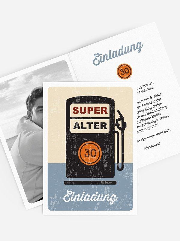 Einladung 30. Geburtstag Super Alter