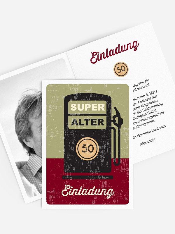 Einladung 50. Geburtstag Super Alter