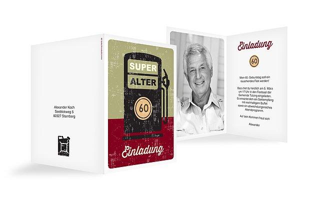 Einladung zum 60. Geburtstag: Einladungskarten gestalten