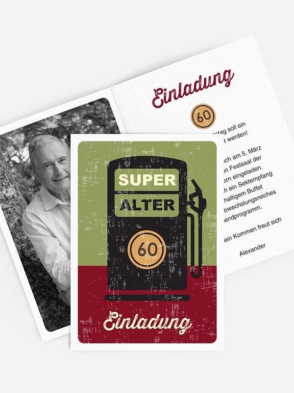 Einladung 60. Geburtstag Super Alter