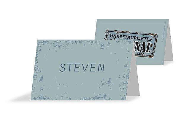 Tischkarte Geburtstag Unrestauriertes Original