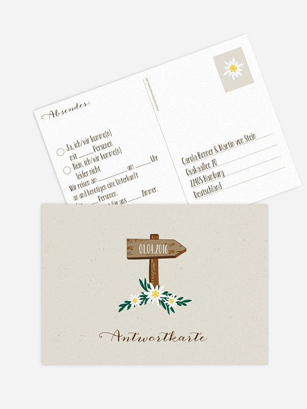 Antwortkarte Hochzeit Heimatliebe