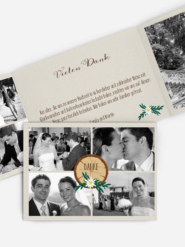 Dankeskarte Hochzeit Heimatliebe