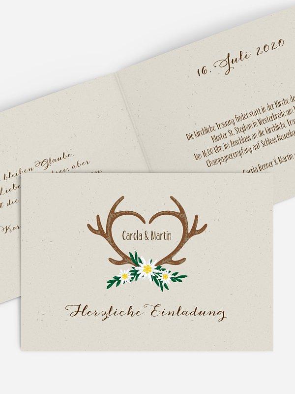 Hochzeitseinladung Heimatliebe
