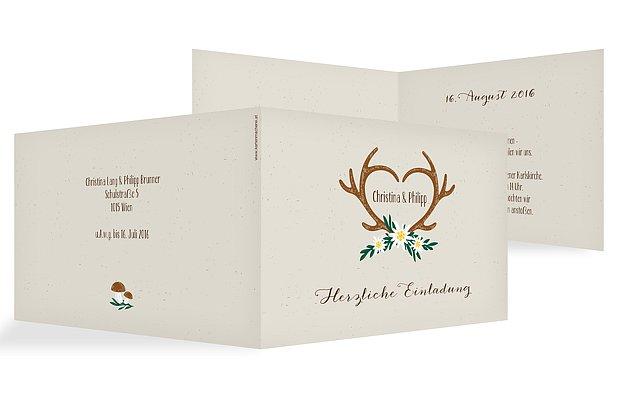 Hochzeitseinladung Rustic Love; Heimatliebe