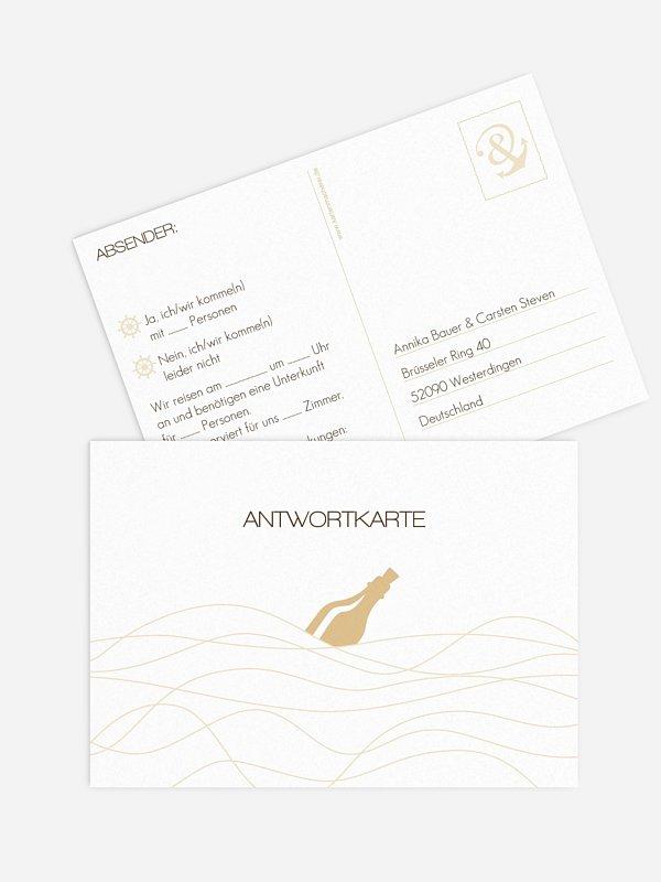 Antwortkarte Hochzeit Verbunden