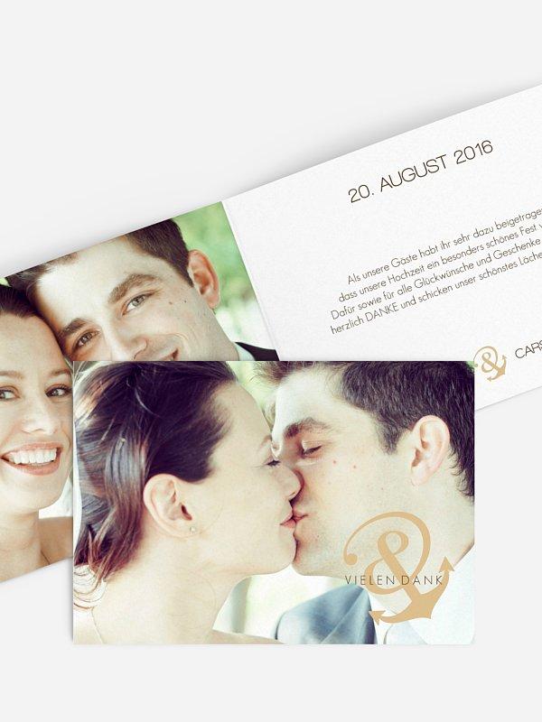 Dankeskarte Hochzeit Verbunden