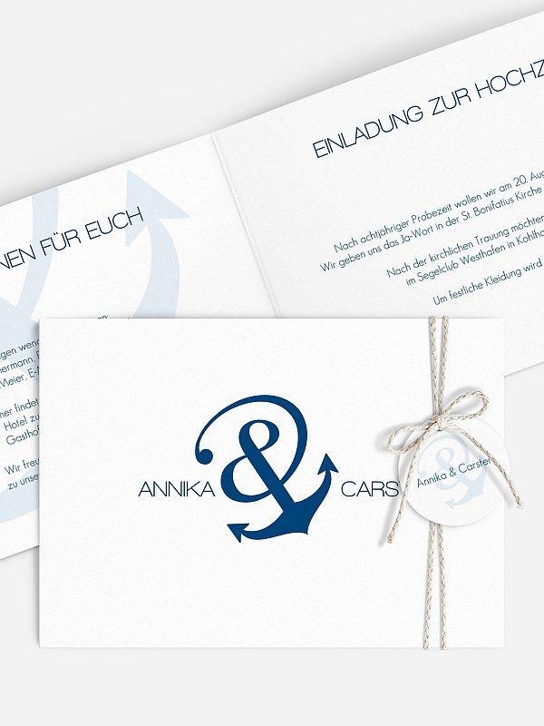 Hochzeitseinladung Verbunden