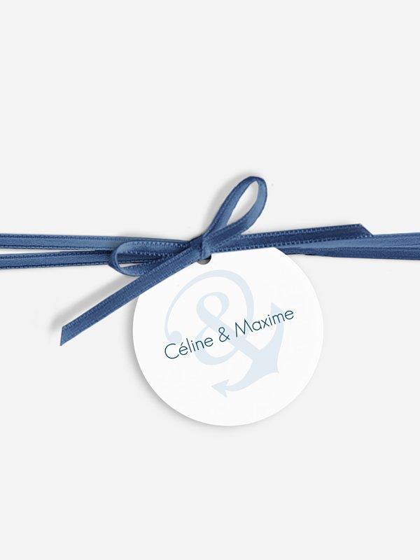 Étiquette avec ruban Esprit marin