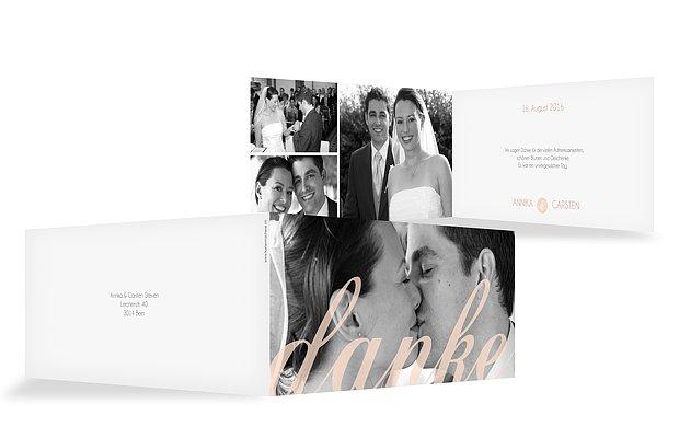 Dankeskarte Hochzeit Liebesworte