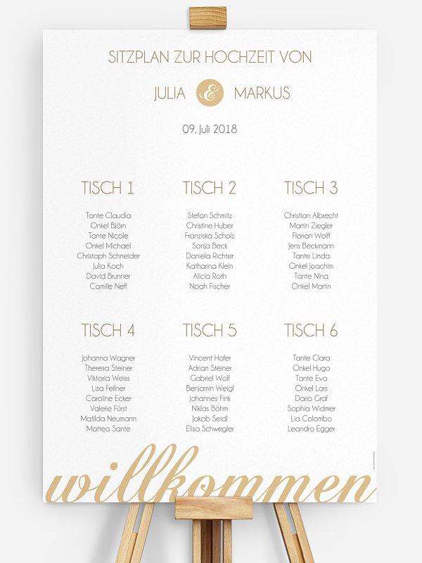 Sitzplan Plakat Liebesworte