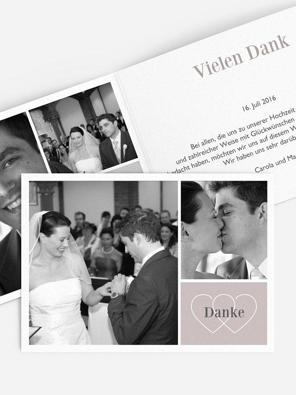 Dankeskarte Hochzeit Herzenssache