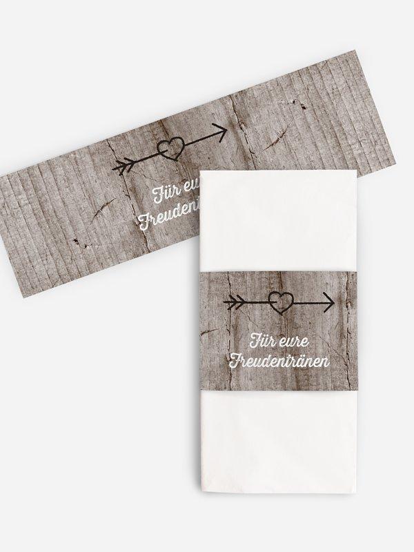 Freudentränen-Taschentücher Wooden Love