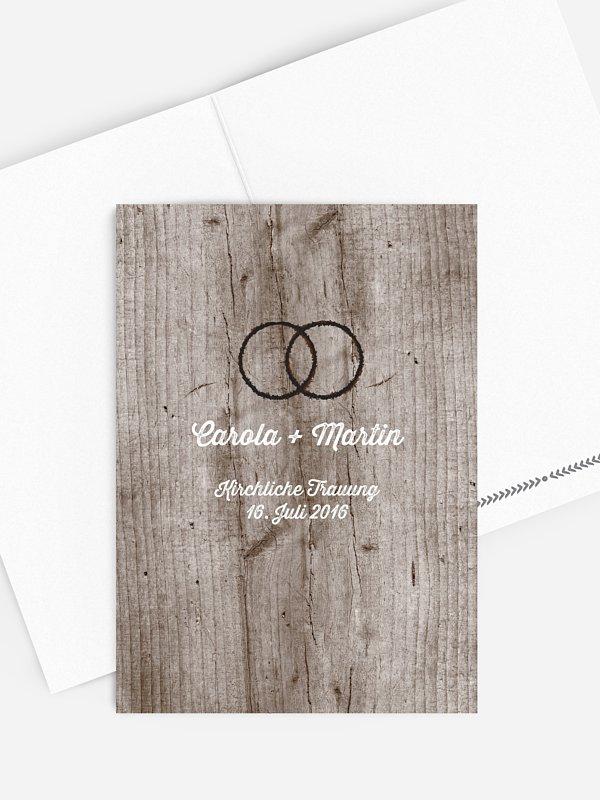 Kirchenheft Hochzeit Wooden Love