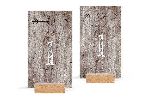 Tischnummer Wooden Love