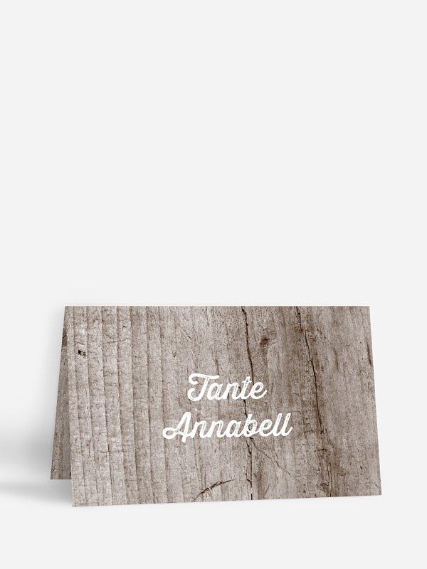 Tischkarte Hochzeit Wooden Love