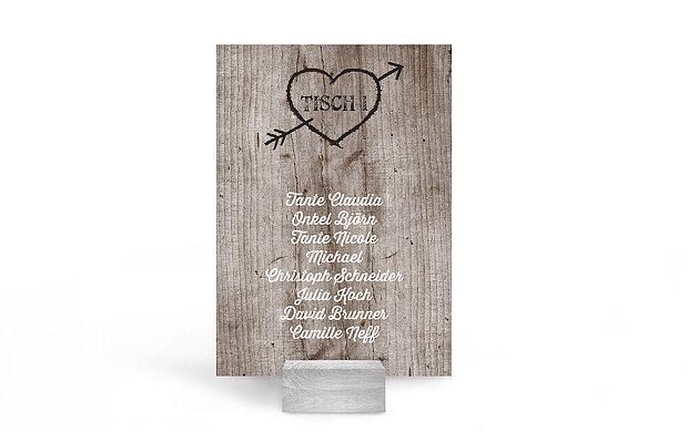 Sitzplan Kreativ Wooden Love