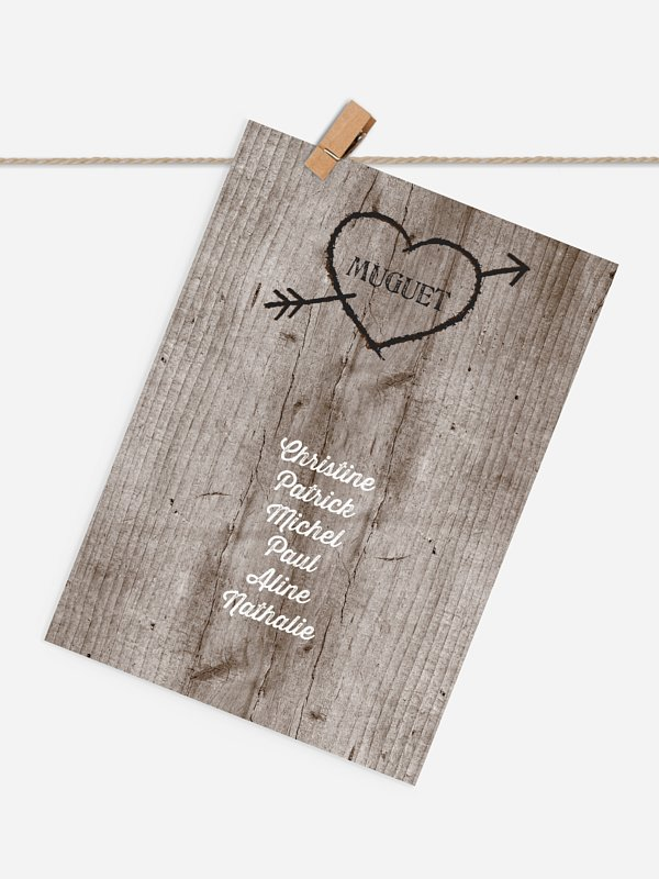 Cartons plan de table mariage Pour toujours