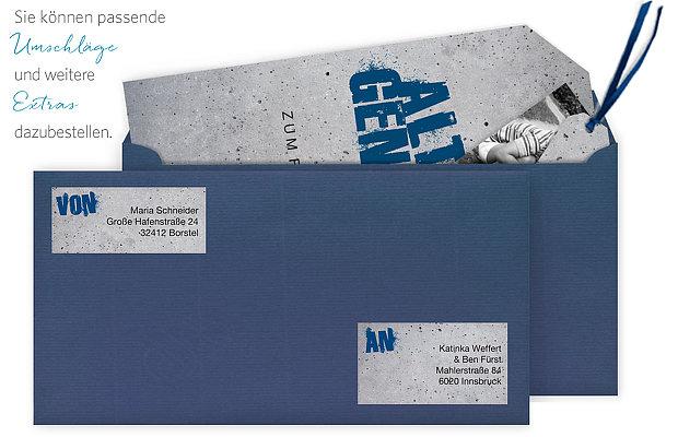 """einladungskarten 18. geburtstag """"streetart"""""""