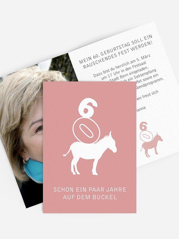 Einladung 60. Geburtstag Nimm´s leicht