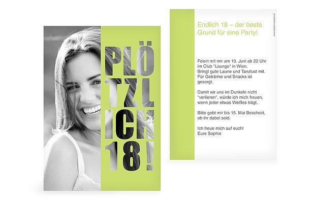 Einladungskarten 18 Geburtstag Einladungskarten 18: Einladung Zum 18. Geburtstag: Einladungskarten Gestalten