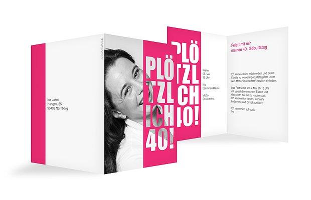 Einladungskarten Geburtstag 40 Einladungskarten 40: Einladung Zum 40. Geburtstag: Einladungskarten Gestalten