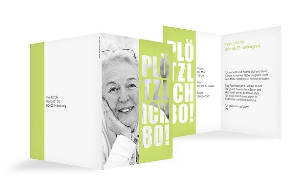Einladungskarten 80 Geburtstag: Einladung Zum 80. Geburtstag: Einladungskarten Gestalten
