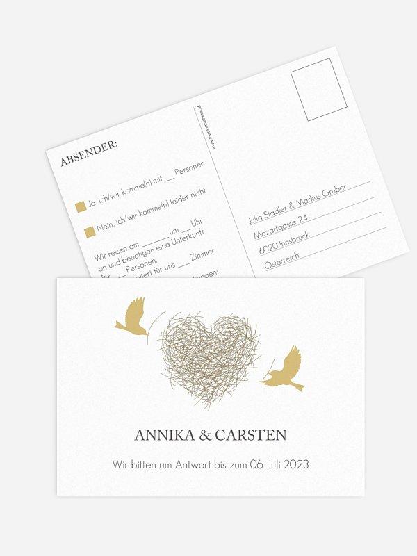Antwortkarte Hochzeit Liebesnest