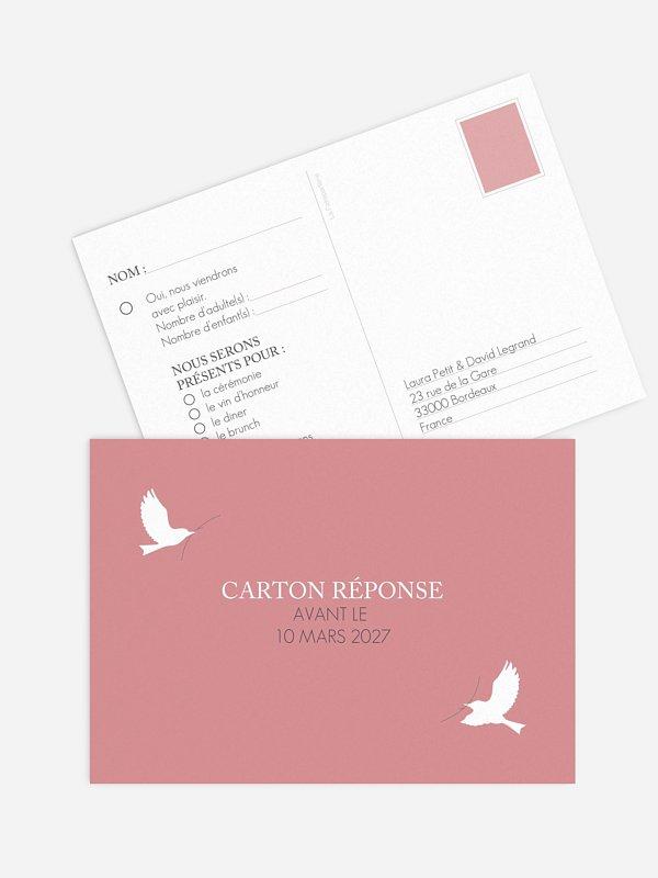 Carton réponse Amour poétique