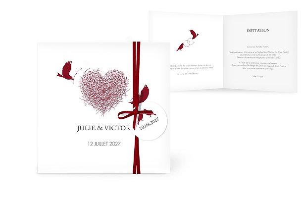 Faire-part mariage Amour poétique