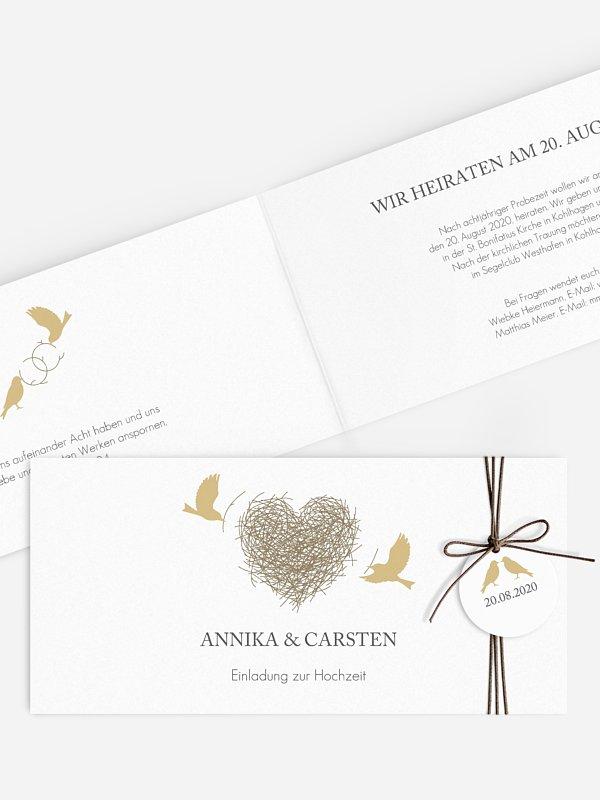 Hochzeitseinladung Liebesnest