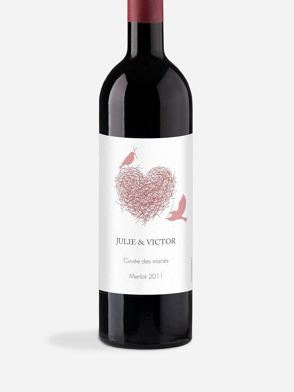 Étiquette bouteille Amour poétique