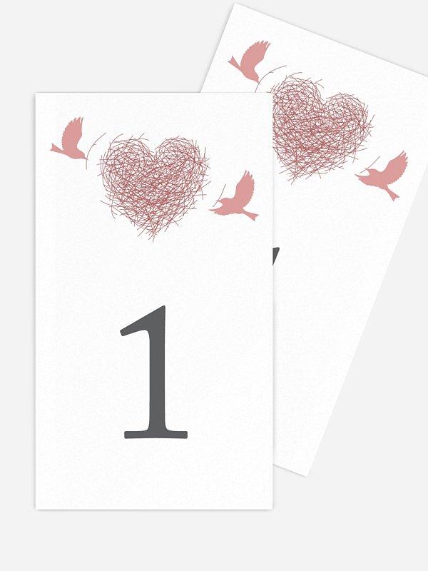 Numéro de table mariage Amour poétique